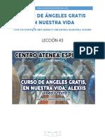 Curso de Angeles Gratis Leccion 43 en Nuestra Vida Centro Atenea Espiritual