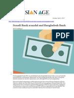 Sonali Bank Scandal and Bangladesh Bank