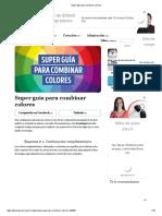 Super Guía Para Combinar Colores