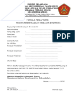 Formulir Pendaftaran Pkd Dan Diklatsar
