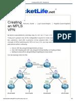 Multi-protocol Label Switching based VPN
