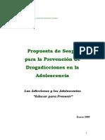 Álvarez García et al. - 2009 - Propuesta de Seapa para la Prevención de Drogadicciones en la Adolescencia. Las Adicciones y los A