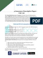 United India Insurance Descriptive Paper UIIC AO