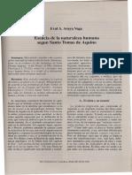Esencia de la naturaleza humana segun Santo Tomas de Aquino..pdf