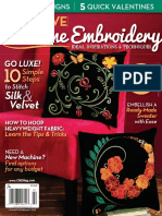 01. Creative Machine Embroidery - January, February 2015