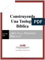 Leccion 1 Que Es La Teología Bíblica Ensayo