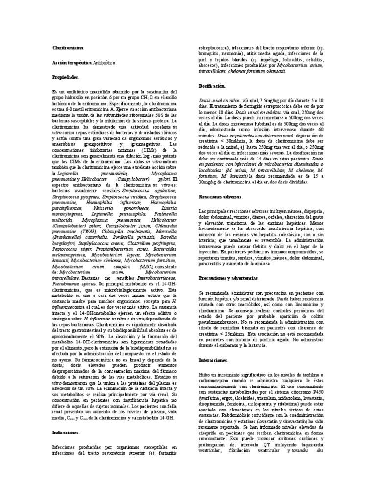 Claritromicina Quimica Medicinal Rtt