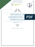 Reportes de LAboratorio de Hematologia