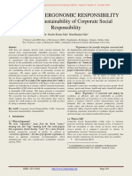 Corporate Ergonomic Responsibility; A Tool for Sustainability of Csr