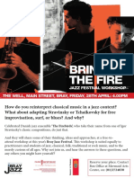 Bringing the Fire - Workshop with The Firebirds @ Bray Jazz Festival