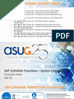 11-2-16_Transition to SAP S4HANA - System Conversion