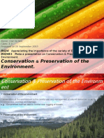 B6D7 Science Conservation & Preservation of Environment