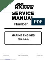 MerCruiser GM4 Manual de Servicio