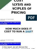 Cost Analysis Upload