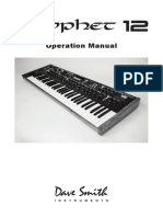 Prophet 12 Operation Manual v.1.0
