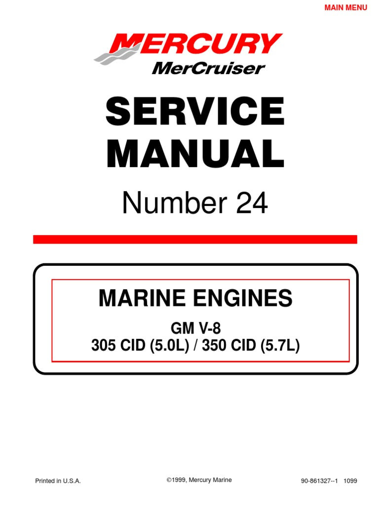 33502312 Mercruiser Service Manual GM V6 4 3 Complete | Distributor |  Components