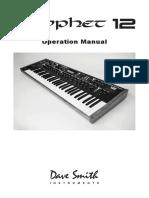 Prophet 12 Operation Manual 1.1