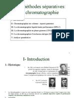 Les méthodes séparatives:la chromatographie