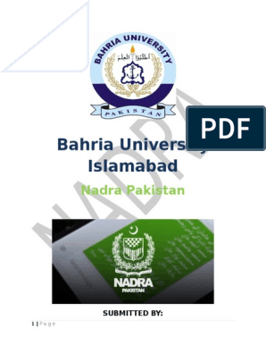Nadra Final docx | Identity Document | Business
