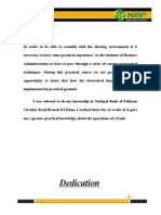 National Bank pakistan internship report