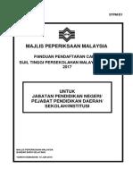 Panduan Pendaftaran STPM D1 2017 - Copy