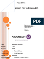 Videocon Video Con d2h Ppt