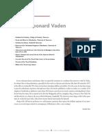 James Leonard Vaden Entrevista
