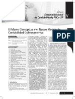 El Marco Conceptual y el Nuevo Modelo de Contabilidad Gubernamental