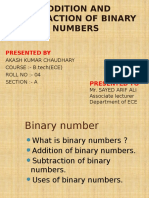 Addition and Subtraction of Binary Numbers Akash