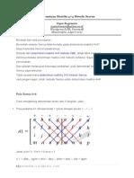 Determinan Matriks 4x4 Sarrus