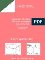 KIMIA MEDISINAL Hubungan Struktur dan Aktivitas Turunan N-Arilantranilat