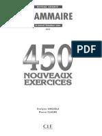 CLE 450 Nouveaux Exercices Avance