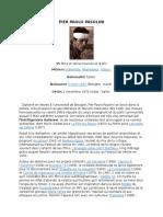 Pier Paolo Pasolini Biographie