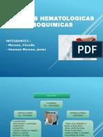 PRUEBAS HEMATOLOGICAS BIOQUIMICAS