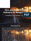 Fire Accident in RMG Industry in Bangladesh