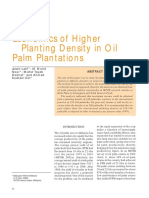 Economics of Higher Planting Density in Oil Palm P