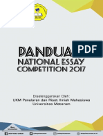 Panduan National Essay 2017
