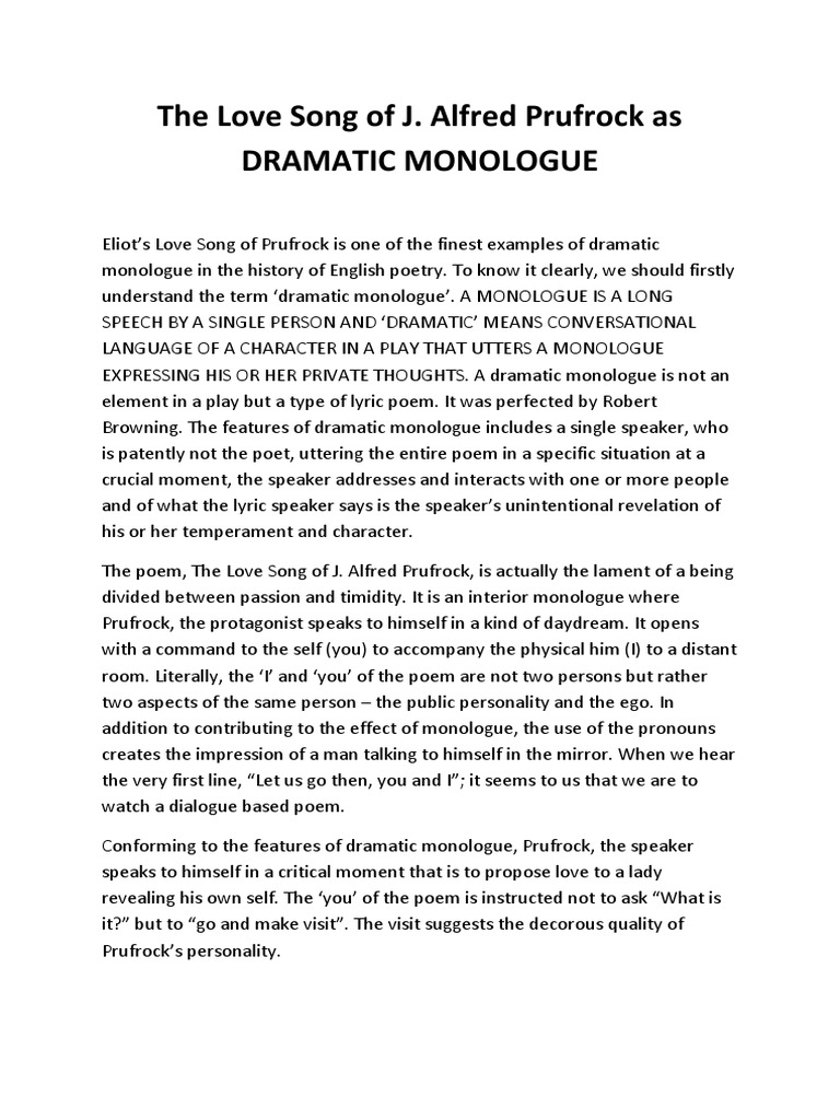 The love song of j monologue poetry ccuart Image collections