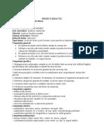 Adjectivul Clasa a via Proiect Didactic 1