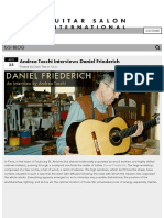 [Luthier] Friederich Interview by Andrea Tacchi