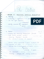 A2 Biology Handwritten Notes (All in One)