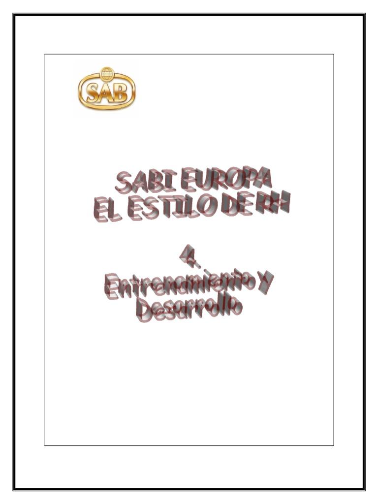 4- Entrenamiento y Desarrollo
