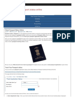 Passport Status Online