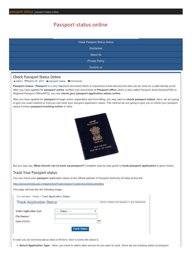 Passport status online short message service passport falaconquin