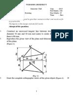 Engineering Drawing 2015 Set I