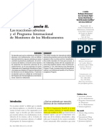 Farmacovigilancia II. Las Reacciones Adversas y El Programa Internacional de Monitoreo de Los Medicamentos