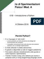 Lab 01b - Introduzione a Python