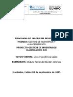 Proyecto Gestion de Inventarios y Almacenamiento Obdulio Fernando Blandon Valencia