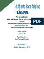 Unidad III Metodologia de La Investigacion I Juan Daniel Liriano H.