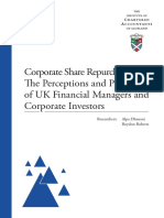 Corporate Share Repurchases ICAS